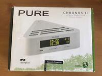 PURE Chronos II DAB/FM Clock Radio - White NEW/UNUSED