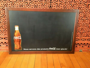 "Vintage Coca Cola Menu Chalkboard 30"" x 20"" Sign"