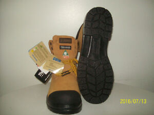 SAFETY-TOE CERTiFiED LEATHER WORK BOOTS (non-metal) Sz 13