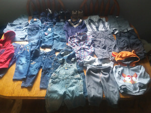 A- 25+ items of boys brand name fall/winter clothing 6-12m