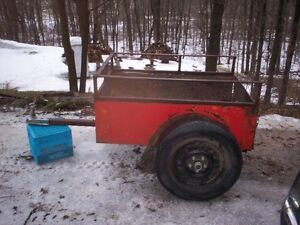 Small steel  trailer for hauling wood