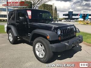 2013 Jeep Wrangler Sport   - CD player -  cruise control - Low M