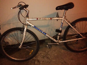 "Used wheeler mountain bike  with 26"" tires"