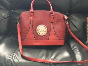 Micheal Kors red leather purse
