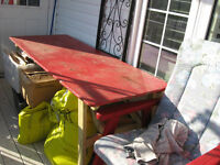 Rustic table and 2 benches - REDUCED!!!