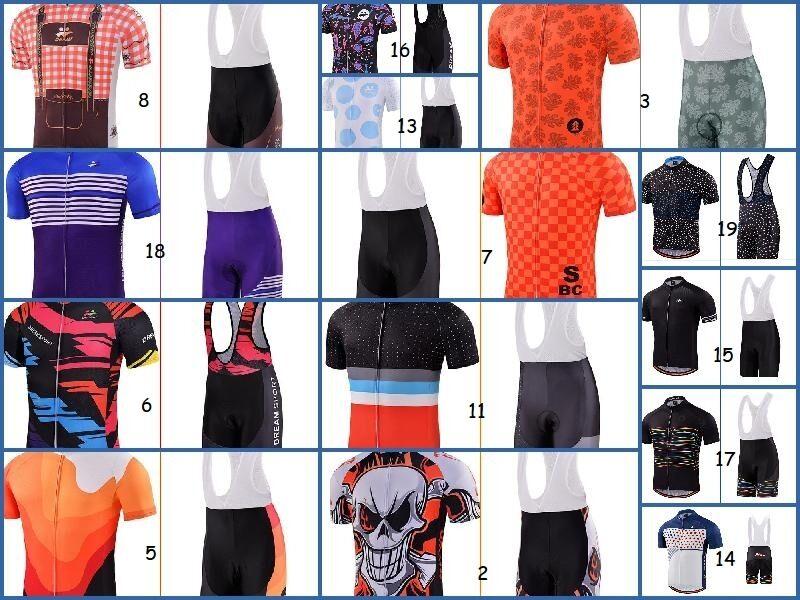 Set ciclismo pantaloni salopette Bike Bib short maglia bici divisa completo 2017