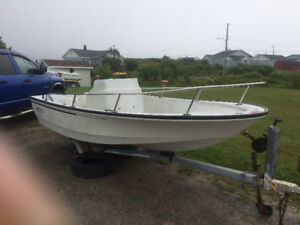 14 foot boston whaler and yard trailer