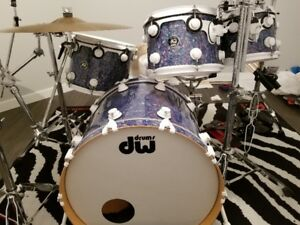 DW drums Collector's Maple Stained Glass Finishply