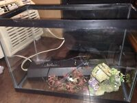 Fish Aquarium with cover  and some accessories.