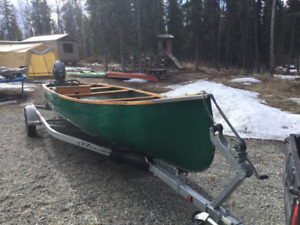 22 ft chestnut freighter canoe with evinrude etec 40hp