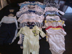Baby boy stuff 0-12 months clothing and more