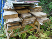 rough pine boards
