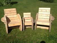 Reclaimed spool chairs