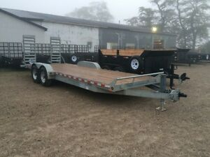 Galvanized equipment float low bed trailers