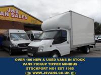 2012 62 FORD TRANSIT 350 LWB LUTON BOX VAN TAILIFT 1 OWNER 125 BHP DIESEL