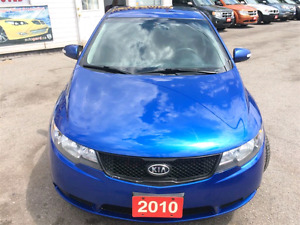 "2010 Kia Forte EX Blue 18"" Black Rims New Tires. Well Maintained"