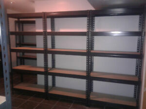 shelving units metal and MDF