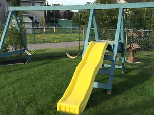 Swing Set with Slide and Hanging Rings