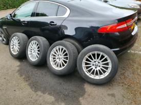 Jaguar xf alloys wheels