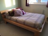 Double bed frame, mattress and under drawer!!