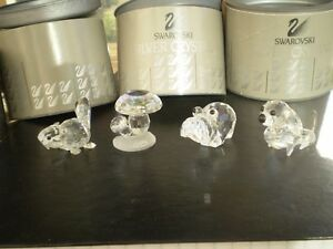 4 - Swarovski Silver Crystal Figurines Kitchener / Waterloo Kitchener Area image 2
