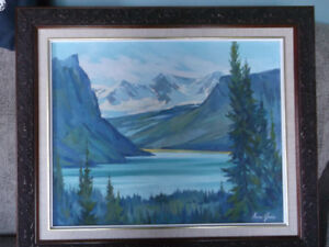 Oil Painting and  VIntage Frame included-Artist-Norma Green