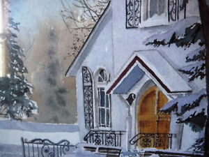 """Hand Signed and Titled Lithograph by Terry Kleemola """"The Chapel"""" Stratford Kitchener Area image 10"""