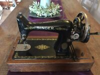 Antique singer sewing machine decoration only
