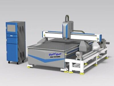 4x8 5x10 Cnc Router Sider Rotary Machine Cut Mill 4 Axis Usastock Mach3 Control