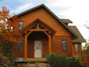 Log Home Shells and Timber Frames for sale