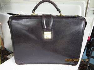 VINTAGE SAGA LEATHER BRIEFCASE RETRO BUSINESS HIPSTER STYLE