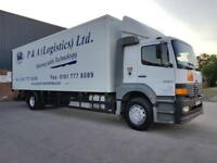 2000 MERCEDES ATEGO 1823 SLEEPER CAB LONG CHASSIS 30FT BOX TRUCK WITH TAIL LIFT