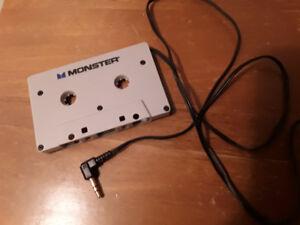 Adaptateur cassette/mp3 (ou ipod, iphone) pour auto