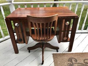 Antique mission desk with Krug chair