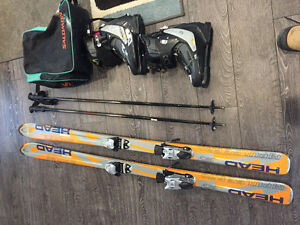 Down hill ski set for sale