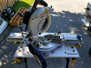 """10"""" Mastercraft Compound mitre saw and stand"""