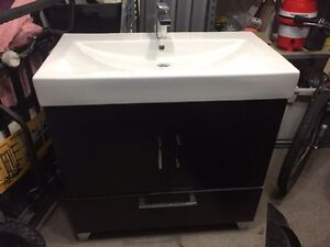 36 inch vanity , sink and taps. $150