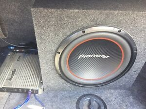 Pioneer subwoofer and Phoenix Gold amp