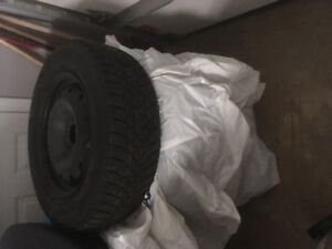 """4 x Minervia 215/65R16 Winter Tires and 16"""" steel Rims"""