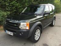 57 REG LAND ROVER DISCOVERY 3 2.7 TDV6 AUTOMATIC 4X4 7 SEATER TURBO DIESEL