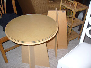 Two Decorator tables, w/ glass tops