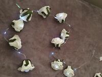 White Rose LED fairy lights x 2 sets