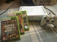 XBOX 360 Hard drive., Controller,charger, WIFI adapter AND 3 games.
