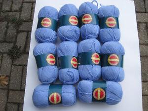 10 blue 100g,  balls of yarn