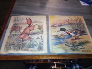 Antique children's linen colored book circa 1900-1911