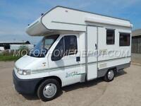 Swift SUNTOR 500, 1998, 4 Berth, Fiat 1.9TD, Rear Lounge, Over Cab Bed, VGC!