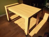Wood effect table