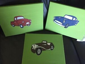 Hand painted canvases