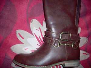 LADIES DENVER HAYES TALL BROWN BOOTS