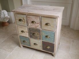 SHABBY CHIC BEACH HOUSE 9 DRAWER CHEST OF DRAWERS